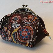 Сумки и аксессуары handmade. Livemaster - original item Cosmetic bag with clasp