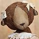 Мишки Тедди ручной работы. Ярмарка Мастеров - ручная работа. Купить Кира.. Handmade. Бежевый, винтажная фурнитура