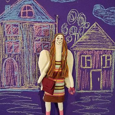 Куклы и игрушки ручной работы. Ярмарка Мастеров - ручная работа Ангел девочка с яблоком.. Handmade.