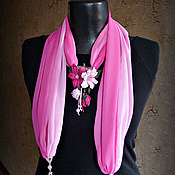 Аксессуары handmade. Livemaster - original item Scarf necklace, Spring bouquet. Handmade.