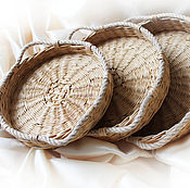 "Для дома и интерьера handmade. Livemaster - original item Trays set ""Loza"", wicker basket trays. Handmade."