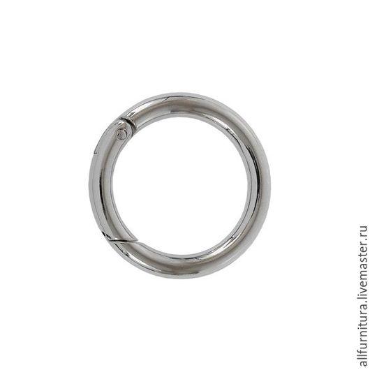 Шитье ручной работы. Ярмарка Мастеров - ручная работа. Купить Кольцо разъемное 058 никель d 34 мм. Handmade.