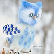 Куклы и игрушки handmade. Livemaster - original item Owl Moon felted toy. Handmade.