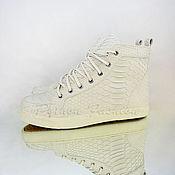 Обувь ручной работы handmade. Livemaster - original item Sneakers from Python VICTORY. Handmade.