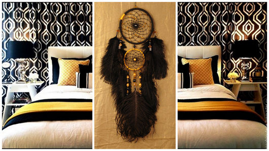 Ловцы снов ручной работы. Ярмарка Мастеров - ручная работа. Купить Dreamcatcher Gold of the Incas Dream Catcher Large Dreamcatcher Dream. Handmade.