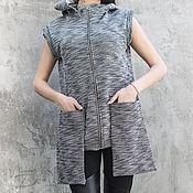 "Одежда handmade. Livemaster - original item Vest "" I love pockets"" V0020. Handmade."