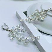 Свадебный салон handmade. Livemaster - original item earrings. Earrings wedding. A drop of dew. Handmade.