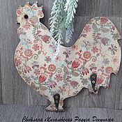 Для дома и интерьера ручной работы. Ярмарка Мастеров - ручная работа вешалка ключница на стену Петух Год Петуха подарок декупаж. Handmade.