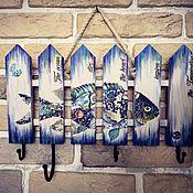 "Ключницы ручной работы. Ярмарка Мастеров - ручная работа Ключница - вешалка ""Рыба моей мечты"". Handmade."