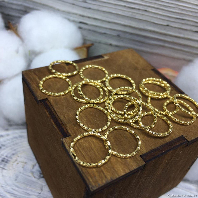 Колечки соединительные 12 мм желтое золото, Фурнитура, Краснодар,  Фото №1