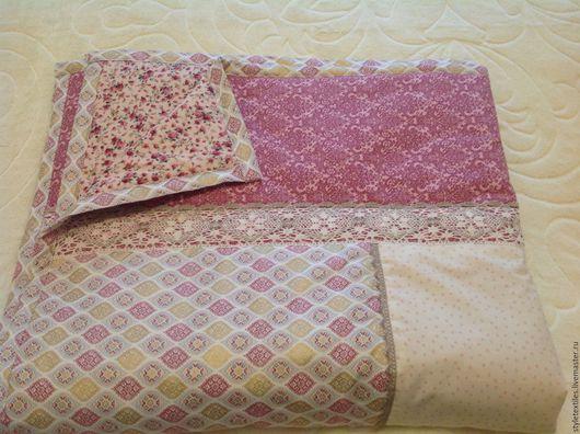 Текстиль, ковры ручной работы. Ярмарка Мастеров - ручная работа. Купить Хлопковое покрывало для девочки. Handmade. Комбинированный, домашний декор