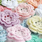 handmade. Livemaster - original item Flowers knitted sandwich. Handmade.