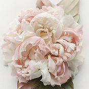 """Цветы и флористика handmade. Livemaster - original item Цветы из шелка. Брошь-цветок Пион """"Матиас"""". Handmade."""