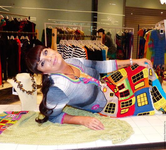 """Платья ручной работы. Ярмарка Мастеров - ручная работа. Купить Летнее платье """"ХУНДЕРТВАССЕР""""-2 хлопок. Handmade. Рисунок"""