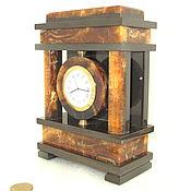 Канцелярские товары ручной работы. Ярмарка Мастеров - ручная работа Часы настольные из симбирцита, натурального природного. Handmade.