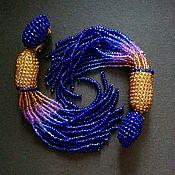 Украшения handmade. Livemaster - original item Cluster earrings beaded Andromeda in the style of Oscar. Handmade.