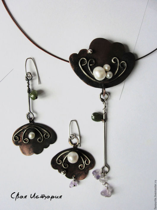 Кулоны, подвески ручной работы. Ярмарка Мастеров - ручная работа. Купить Цветочный кулон из коллекции украшений «Lunar pearl» Лунный жемчуг. Handmade.