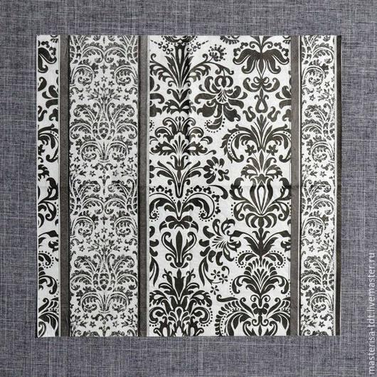 СФ-335438. Декупажная салфетка `Цветочный орнамент`. Салфетка предназначена для декорирования различных поверхностей в технике декупаж.