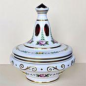 Винтаж handmade. Livemaster - original item Biscuit bowl Bohemia double-layer glass 50-60 gg. Handmade.