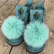 """Обувь ручной работы. Ярмарка Мастеров - ручная работа Валеши с мехом """"Тиффани"""". Handmade."""
