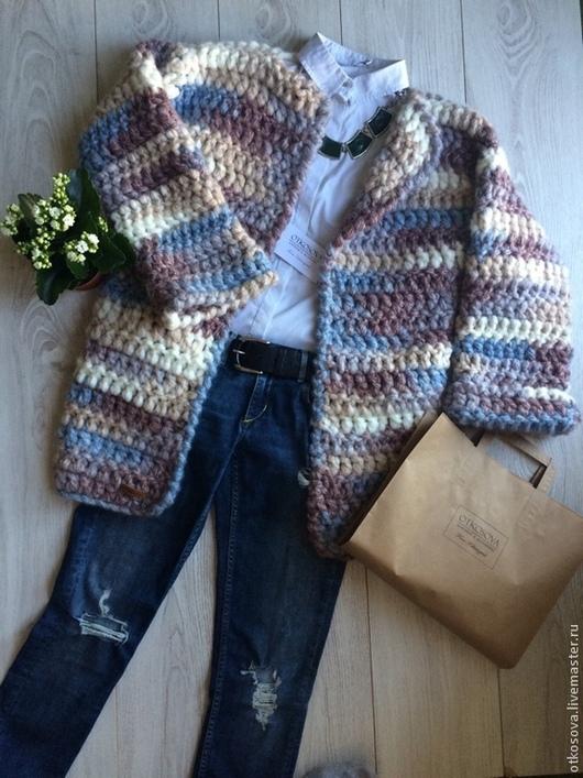 Кофты и свитера ручной работы. Ярмарка Мастеров - ручная работа. Купить Вязаный кардиган. Handmade. Вязаный кардиган, пастель