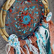 """Фен-шуй и эзотерика ручной работы. Ярмарка Мастеров - ручная работа Ловец снов """"Море и солнце"""" в бохо стиле. Handmade."""