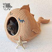handmade. Livemaster - original item Cat bed Cat dome. Handmade.