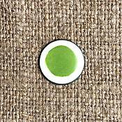 Материалы для творчества handmade. Livemaster - original item Overglaze paint Dulevo No. №5102 yellow-green. Handmade.