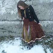 Одежда handmade. Livemaster - original item Felted skirt Autumn story(2). Handmade.