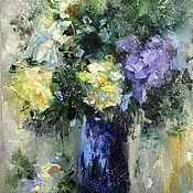 Картины и панно handmade. Livemaster - original item Flower arrangement 3, oil painting. Handmade.