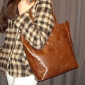 Сумки и аксессуары handmade. Livemaster - original item Bag-package of Italian genuine leather.. Handmade.