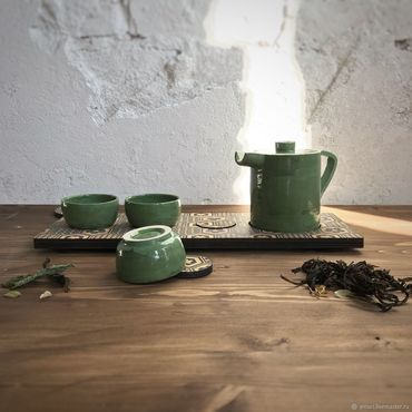 Посуда ручной работы. Ярмарка Мастеров - ручная работа Набор для чаепития. Handmade.