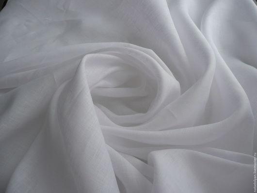"""Шитье ручной работы. Ярмарка Мастеров - ручная работа. Купить Лен 100% """"Сорочечный белоснежный"""". Handmade. Белый, ткань для рубашки"""