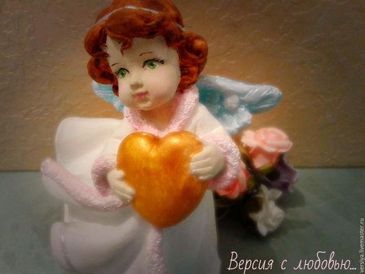 Украшения для цветов ручной работы. Ярмарка Мастеров - ручная работа. Купить Ангелок.. Handmade. Комбинированный, купить статуэтку, для цветов