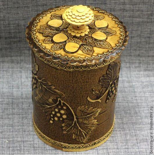 Конфетницы, сахарницы ручной работы. Ярмарка Мастеров - ручная работа. Купить Туесок для сахара соли круп для хранения сыпучих продуктов в подарок. Handmade.