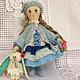 """Ароматизированные куклы ручной работы. Полинка( куколка из серии"""" Детство""""). Олька Моисеева. Интернет-магазин Ярмарка Мастеров. Маленькая кукла"""