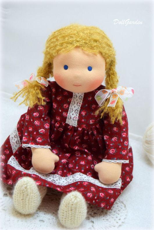 Вальдорфская игрушка ручной работы. Ярмарка Мастеров - ручная работа. Купить Ариша,вальдорфская кукла. Handmade. Бордовый, нужна кукла