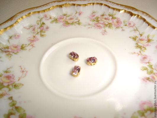 Для украшений ручной работы. Ярмарка Мастеров - ручная работа. Купить Винтажные кристаллы 6х4 мм - Light Amethyst. Handmade.