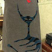 Одежда ручной работы. Ярмарка Мастеров - ручная работа Юбка с авторской аппликацией. Единственная. Инопланетная любовь.. Handmade.