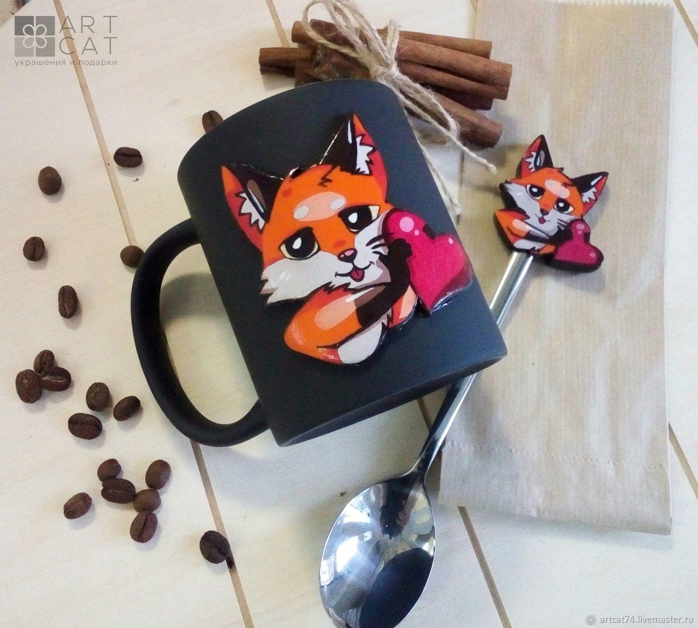 Чайный набор с лисом Паппи, Кружки и чашки, Челябинск,  Фото №1