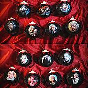 Подарки к праздникам ручной работы. Ярмарка Мастеров - ручная работа Новогодние ёлочные шарики на заказ с индивидуальным оформлением. Handmade.