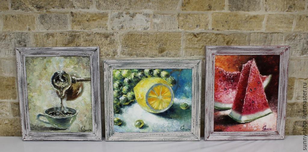 """Картина маслом в раме """"Чашка кофе"""" (серия картин на кухню ... Натюрморты Маслом Для Кухни"""