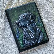 Канцелярские товары handmade. Livemaster - original item Notepad with Labrador. Handmade.