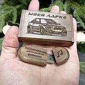 Сувениры и подарки handmade. Livemaster - original item Wooden flash drive with engraving (in a box), souvenir. Handmade.