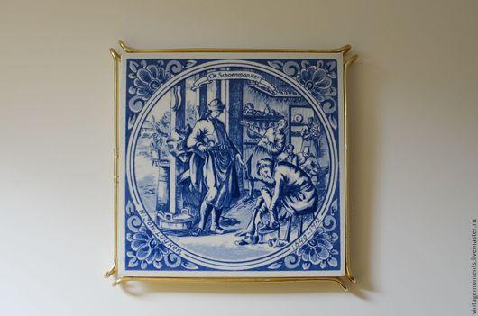 Винтажная посуда. Ярмарка Мастеров - ручная работа. Купить Подставка под горячее Delft, Голландия. Handmade. Подставка, винтаж, для кухни
