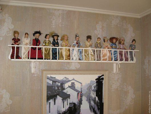 Мебель ручной работы. Ярмарка Мастеров - ручная работа. Купить Полка балкон для кукол от Деагостини. Handmade. Белый, балкон, деагостини