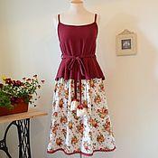 """Одежда ручной работы. Ярмарка Мастеров - ручная работа Сарафан """"Винтажные розы"""". Handmade."""