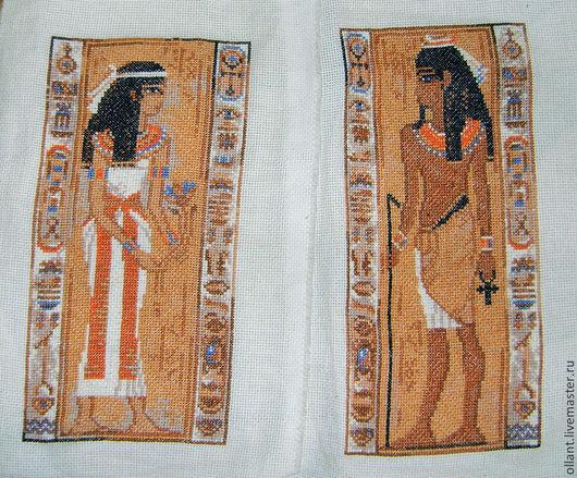 Этно ручной работы. Ярмарка Мастеров - ручная работа. Купить Египет (триптих). Handmade. Вышитые картины, этнические мотивы, канва
