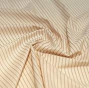 Материалы для творчества ручной работы. Ярмарка Мастеров - ручная работа Винтажная бежевая хлопковая плательно-блузочная ткань. Handmade.