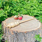 Материалы для творчества handmade. Livemaster - original item The Shortened spindle for spinning from Cedar Wooden spindle #B16. Handmade.